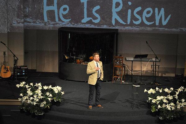 Pastor Doyle preaching